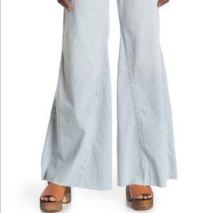 Venice Pull On Flare Jeans Raw Hem 28